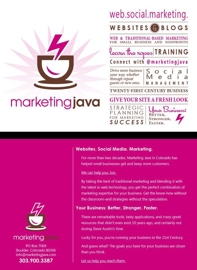 Marketing Java Postcard